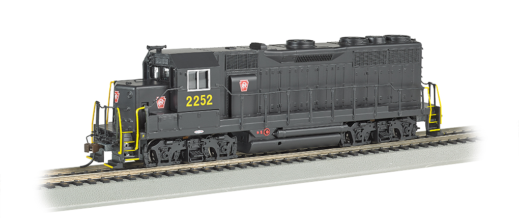 Bachmann 68802 HO Pennsylvania EMD GP35 Diesel Locomotive with Bluetoo This is a Bachmann 68802 HO Scale Pennsylvania EMD GP35 with E-Z App™ Wireless #2252. It Features of E-Z App™ Touch-Screen Train Control include: wireless control with any Bluetooth® 4-supported iPhone®, iPad®, or iOS device (includes iPhone® 4s, 5, 5c, 5s, 6, and 6 Plus; iPad Air® and iPad mini™, 3rd and 4th generations; and iPod touch® 5 or newer) , operates from up to 100 feet away with Bluetooth® Smart technology, realistic, dynamic engine sound broadcast through your Bluetooth® 4-supported smart device,requires 16 volt DC or DCC track power for operation, ready to launch and use instantly after downloading the FREE Bachmann E-Z App™ from the Apple App Store, and no configuration or additional equipment required. Locomotive features: all-wheel drive,can motor,LED headlights,RP25 wheel contours,E-Z Mate® Mark II couplers, and Performs best on 18 radius curves or greater.Condition: Factory New (C-9All original; unused; factory rubs and evidence of handling, shipping and factory test run.Standards for all toy train related accessory items apply to the visual appearance of the item and do not consider the operating functionality of the equipment.Condition and Grading Standards are subjective, at best, and are intended to act as a guide. )Operational Status: FunctionalThis item is brand new from the factory.Original Box: Yes (P-9May have store stamps and price tags. Has inner liners.)Manufacturer: BachmannModel Number: 68802Road Name: PennsylvaniaMSRP: $239.00Scale/Era: HO ModernModel Type: Diesel LocoAvailability: Ships in 1 Business Day!The Trainz SKU for this item is P12157783. Track: 12157783 - No Location Assigned - 001 - TrainzAuctionGroup00UNK - TDIDUNK
