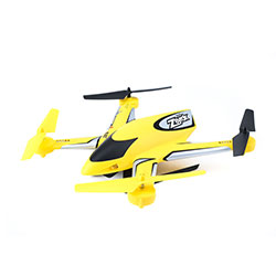 Blade 7380T1 Zeyrok Bind-N-Fly Yellow This is a Blade Helis 7380T1 Zeyrok BNF Yellow. Key FeaturesFully assembled, no building necessarySAFE® technology makes flying simpleIncredibly durable, lightweight unibody airframeAvailable in brilliant yellow or vibrant green color schemesOptional remote control 720p/1.3MP cameraMaintenance free enclosed rotor drive systemLarge 750mAh 1S Li-Po flight battery and convenient USB chargerBrilliant LED orientation lights with status indicationRemovable skids with integrated camera podOptional removable 4GB Micro SD memory cardOverviewThere's nothing like the exhilarating feeling you get during your first flight with a drone. That's why the Blade® brand has been in the rotor wing business—because flying a great aircraft keeps that exhilaration alive. Using decades of combined experience, the Blade team has engineered great designs that harness new technology so that you can experience success on the first flight and beyond. Today, exclusive SAFE® technology and the all new Zeyrok™ quadcopter is poised to help you become a great RC pilot, plus have fun of exploring aerial photography and video all at the same time.The Blade® Zeyrok™ quadcopter is the ideal drone for new pilots and anyone who wants a fun flying experience. Based on a proven power system, its next-gen airframe has been industrial engineered to have a futuristic concept-appearance that's incredibly durable. But you'll have no trouble keeping it together. That's because the SAFE® system of the Zeyrok drone is designed with multiple flight modes to provide the kind of confidence-building flying characteristics that makes lift-off as smooth as possible. As a result, you can rock from beginner to expert drone pilot at the pace that's right for you. The optional camera pod with landing gear (included with BLH7360 Zeyrok drone with camera) is removable so you can quickly turn this nimble quad into a lightweight HD camera drone. Still and video ope