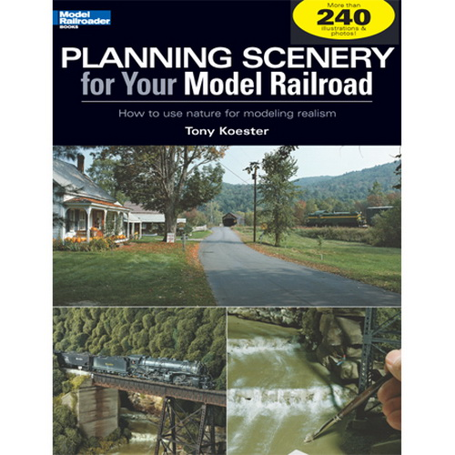 """Kalmbach 12410 Planning Scenery for Your Model Railroad Fourth in the Realistic Model Railroading series by the same author, this volume shows modelers how to turn to the real thing – natural land forms, crops, forests, water features, and even the seasons, to get better results on their model railroad layouts. What are the critical – and """"model-able"""" – differences between the Rockies and the Appalachian Mountains, for example, and what resources can help modelers achieve a natural-looking scene from each area? These big ideas are supported by modeling projects as examples of incorporating realistic natural effects including rock strata, water forms, field crops, and space-saving industries. Author: Tony Koester Softcover; 8 1/4 x 10 3/4; 96 pages; 25 black and white photos; 175 color photos; 10 illustrations; ISBN: 9780890246Condition: Factory NewOperational Status: FunctionalThis item is brand new from the factory.Original Box: YesManufacturer: KalmbachModel Number: 12410MSRP: $21.95Category 1: Books and MediaCategory 2: HO Scale Books & MediaAvailability: Ships in 3 to 5 Business Days.The Trainz SKU for this item is P11491686. Track: 11491686 - FS - 001 - TrainzAuctionGroup00UNK - TDIDUNK"""