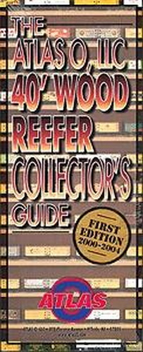 Atlas 140 40' Reefer Car Collector's Guide This special 52-page collector's guide is printed on heavy stock paper and displays over 100 full-color photographs! This guide also features the history of the 40' Wood Refrigerator Car, articles on how production started at Atlas O, the inspiration behind it all - Mr. Bob Wagner (1912-1999) a scratch-built reefer builder who painted the cars by hand and had a passion for the history of these reefers. Also featured is Atlas O's high -quality 40' Wood Reefer success and more!Condition: Factory NewOperational Status: FunctionalThis item is brand new from the factory.Original Box: YesManufacturer: AtlasModel Number: 140MSRP: $6.00Category 1: Books and MediaCategory 2: O Scale Books & MediaAvailability: Ships in 3 to 5 Business Days.The Trainz SKU for this item is P11458839. Track: 11458839 - FS - 001 - TrainzAuctionGroup00UNK - TDIDUNK