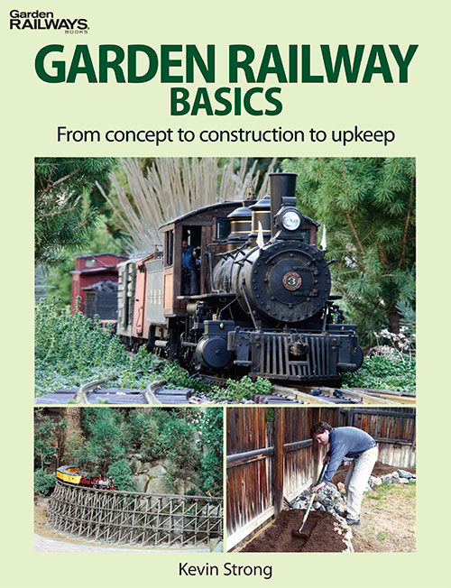 Kalmbach 12468 GARDEN RAILWAY BASICS This is Kalmbach 12468 GARDEN RAILWAY BASICS. Stock the most comprehensive introduction to the garden railroad hobby available today. Garden Railways' popular columnist Kevin Strong has updated and compiled ten years of sage advice from the magazine into this must-have reference tool. Hobbyists will get all the building blocks they need to plan their layout, choose a power source, and construct and maintain a successful backyard empire.Before beginning a major project such as building a garden railway, it is always good to know the basics. Popular Garden Railways columnist Kevin Strong draws on a lifetime of experience to present a foundation for building a backyard empire. In this book, you'll learn these basic concepts of the hobby:Understanding gauge and scaleSelecting power supplies and control systemsPlanning your railwayIncorporating prototype operationsUsing landscaping toolsLaying track for problem-free runningMaintaining and improving your trainsSoftcover8 1/4 x 10 3/496 pages250 color photosCondition: Factory NewOperational Status: FunctionalThis item is brand new from the factory.Original Box: YesManufacturer: KalmbachModel Number: 12468MSRP: $19.95Category 1: Books and MediaCategory 2: OtherAvailability: Ships in 3 to 5 Business Days.The Trainz SKU for this item is P11982190. Track: 11982190 - FS - 001 - TrainzAuctionGroup00UNK - TDIDUNK