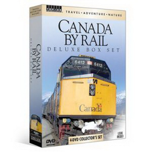 TPS 60293 Canada By Rail 4 DVD Set Captivating views, historic trains, and award-winning videography come together in Canada By Rail, this 4-DVD Travel-Adventure-Nature collection of rail videos that explore the legendary trains that travel Canada's majestic countryside. From spectacular scenery to legendary locomotives, rail fans and travelers alike will find lots to love these four travel films!Run Time: Approximately 5 hours and 10 minutesProduct Features4-DVD Travel-Adventure-Nature collector's set5+ hours of spectacular scenery and train footageAward-winning videographyTravel through Canada's Rocky MountainsSee wildlife, from elk, bears and Bald EaglesSystem RequirementsStandard Definition DVD or Blu-ray PlayerCondition: Factory NewOperational Status: FunctionalThis item is brand new from the factory.Original Box: YesManufacturer: TPSModel Number: 60293MSRP: $29.99Category 1: Books and MediaCategory 2: Videos & DVDsAvailability: Ships in 3 to 5 Business Days.The Trainz SKU for this item is P11567713. Track: 11567713 - FS - 001 - TrainzAuctionGroup00UNK - TDIDUNK