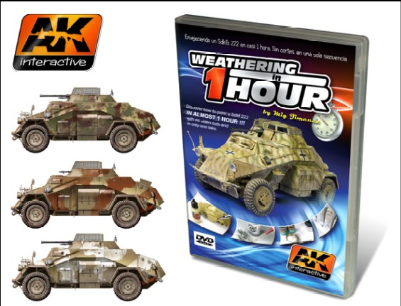 AK Interactive 36 Weathering SdKf 222 in 1Hr PAL DVD This is an AK Interactive 36 Weathering SdKf 222 in 1Hr PAL DVD. Finally a DVD that is different from the rest. Most modelers, especially when starting out in the world of paint effects, have wondered what the complete process of painting a model consists of. From start to finish. Until now our DVDs have only shown parts of the action, seconds or minutes of a small fraction of the process. In our new DVD we show you the complete process of weathering a Sd.kfz 222 from Hobby Boss, recorded in just one take with one camera and without any cuts or editing. In this way, you the spectator can see the complete process and appreciate it in real time. This DVD demonstrates that the job of weathering a model doesn't have to be slow and complicated. Included with the DVD are numerous color profiles for other variants on the Sd.kfz 222. Narration in English. Texts in Spanish and English. 70 minutes. PAL format.Condition: Factory NewOperational Status: FunctionalThis item is brand new from the factory.Original Box: YesManufacturer: AK InteractiveModel Number: 36MSRP: $26.99Category 1: Books & MediaCategory 2: How ToAvailability: Ships in 3 to 5 Business Days.The Trainz SKU for this item is P12056360. Track: 12056360 - FS - 001 - TrainzAuctionGroup00UNK - TDIDUNK
