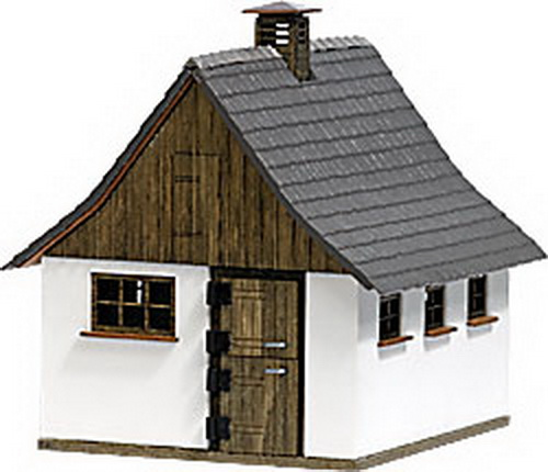 Busch 1516 Historic Hohenloher Breeding Stable - Kit (Laser-Cut Wood)