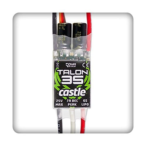 Castle Creations 010-0122-00 Creation Talon 35 ESC Electronic Speed Co This is a Castle Creations 010-0122-00 Creation Talon 35 ESC Electronic Speed Control 35A.Condition: Factory NewOperational Status: FunctionalThis item is brand new from the factory.Original Box: YesManufacturer: Castle CreationsModel Number: 010-0122-00MSRP: $58.95Category 1: Other ToysCategory 2: Radio Control ToysAvailability: Ships in 3 to 5 Business Days.The Trainz SKU for this item is P12063099. Track: 12063099 - FS - 001 - TrainzAuctionGroup00UNK - TDIDUNK