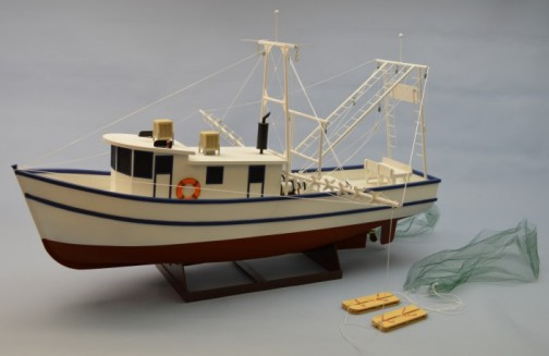 Dumas 1271 1:24 36  Rusty The Shrimp Boat This is Dumas 1271 1:24 36 Rusty The Shrimp Boat. Model features balsa planking over laser cut poplar plywood frames. The cabin and pilot house are constructed from die-cut expanded pvc with laser cut plywood frames. The kit includes all of the material for the scaffolding, nets, outriggers and so much more, A massive instruction booklet and corresponding figure set walks you step-by-step through construction. And for an added bonus this is one of the best running boats in the line. If you have been looking for something out of the ordinary look no further than Rusty the Shrimp Boat.Condition: Factory NewOperational Status: FunctionalThis item is brand new from the factory.Original Box: YesManufacturer: DumasModel Number: 1271MSRP: $275.00Category 1: Model KitsCategory 2: 1:24 ScaleAvailability: Ships in 1 Business Day!The Trainz SKU for this item is P12156173. Track: 12156173 - No Location Assigned - 001 - TrainzAuctionGroup00UNK - TDIDUNK