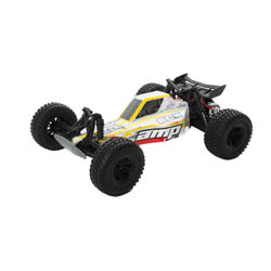 ECX 03029T2 1/10 AMP DB 2wd Desert Buggy: White/Red Ready-to-Run This is an ECX 03029T2 1/10 AMP DB 2wd Desert Buggy: White/Red Ready-to-Run. From their pinpoint precision to their versatility, buggies have been a mainstay in RC driving for a reason. The ECX® AMP™ Desert Buggy pays homage to buggies of the past with a classic design and modern features that leave less capable rigs sidelined. There's little that can slow down this no-nonsense buggy, not even Mother Nature thanks to waterproof electronics. Whenever you drive, you'll be protected by the hard-hitting durability that put the ECX brand on the map. Best of all, the AMP Desert Buggy is upgradable so you can take your driving to the next level. Equally ferocious on a straightaway or kicking up dirt, the AMP Desert Buggy is sure to electrify your senses.Key Features:Ready-to-run540 Size 20T brushed motorWaterproof electronicsFull range 2.4GHz transmitterRechargeable Dynamite® 7.2V 1800 mAh Ni-MH battery includedDynamite® Ni-MH 110-240V charger includedNylon composite chassisOil-filled shocksFully painted and decaled body2WD transmission with gear differentialsCaptured hinge pinsIndependent suspensionCondition: Factory NewOperational Status: FunctionalThis item is brand new from the factory.Original Box: YesManufacturer: ECXModel Number: 03029T2MSRP: $159.99Category 1: Other ToysCategory 2: Radio Control ToysAvailability: Ships in 1 Business Day!The Trainz SKU for this item is P12163580. Track: 12163580 - No Location Assigned - 001 - TrainzAuctionGroup00UNK - TDIDUNK