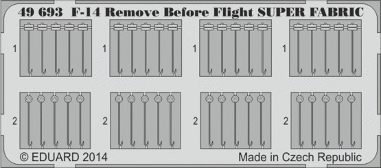 Eduard 49693 1:48 Aircraft F-14 Remove Before Flight Super Fabric-Type