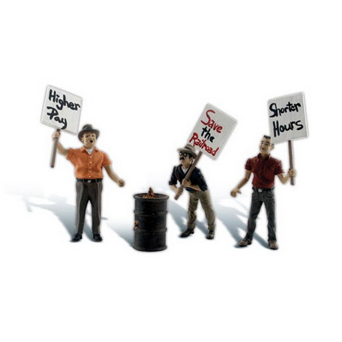 Woodland Scenics A2557 G Scale Striking Picketers Figures