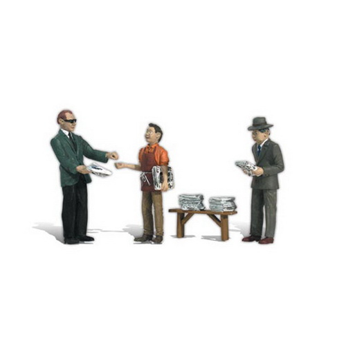 Woodland Scenics A2559 G Scale Neds Newsstand Figures