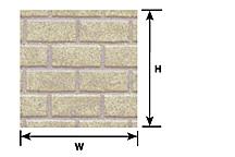 Plastruct 91618 G Patterned Sheets - Concrete Block