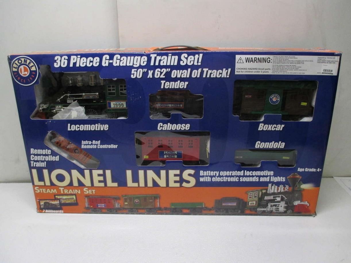Battery Train Set : Lionel g steam freight train set battery powered