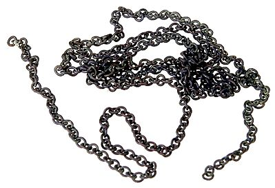 A-Line 29220 HO Chain 12 Black 27 Links per Inch This is an A-Line 29220 HO Scale Chain 12 Black 27 Links per Inch. Brass Chain (12) - Used to tie down open loads on freight cars, vehicle trailers and locomotive handrails. Brass chain is packaged in 12 inch lengths.Condition: Factory New (C-9All original; unused; factory rubs and evidence of handling, shipping and factory test run.Standards for all toy train related accessory items apply to the visual appearance of the item and do not consider the operating functionality of the equipment.Condition and Grading Standards are subjective, at best, and are intended to act as a guide. )Operational Status: FunctionalThis item is brand new from the factory.Original Box: Yes (P-9May have store stamps and price tags. Has inner liners.)Manufacturer: A-LineModel Number: 29220MSRP: $4.95Scale/Era: HO ModernModel Type: AccessoriesAvailability: Ships in 3 to 5 Business Days.The Trainz SKU for this item is P11953855. Track: 11953855 - FS - 001 - TrainzAuctionGroup00UNK - TDIDUNK