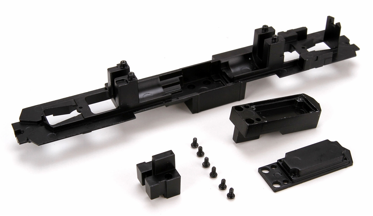 Athearn 98542 HO Sound Ready Underframe for SD40/45 This is an Athearn 98542 HO Sound Ready Underframe For SD40/45. Features: Earlier models that don't have the Sound Ready starburst on the box will require this underframe in order to use the Genesis Motor Retrofit Kit (ATHG63839) available separately. Simple Installation, includes all weights, included mounting screws, integrated speaker box. Three benefits to Genesis power to your RTR Locomotives: Streamlined DCC speed curves, Lower motor current draw, Quieter motor operation for DCC Sound.Condition: Part (N/ATrainz does not provide grading for parts.Standards for all toy train related accessory items apply to the visual appearance of the item and do not consider the operating functionality of the equipment.Condition and Grading Standards are subjective, at best, and are intended to act as a guide. )Operational Status: FunctionalThis part is in workable condition.Original Box: NoManufacturer: AthearnModel Number: 98542Category 1: PartsCategory 2: HO ScaleAvailability: Ships in 3 to 5 Business Days.We are unable to provide parts lookup service or fitment assistance.The Trainz SKU for this item is P12100356. Track: 12100356 - FS - 001 - TrainzAuctionGroup00UNK - TDIDUNK