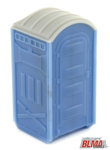 BLMA Models 4111 HO Portable Toilet (Pack of 2) This is HO Scale Assembled Portable Toilets (2 per pack). They are about 6  tall for model train layouts and dioramas. A common site around construction sites, fair grounds, sporting events, and other locations where plumbing is scarce, these portable toilets provide a great service to those who use them. Our model was engineered from prototype dimensions to ensure accuracy. This injection-molded plastic Portable Toilet is completely assembled, colored, and ready to place on your layout!Condition: Factory New (C-9All original; unused; factory rubs and evidence of handling, shipping and factory test run.Standards for all toy train related accessory items apply to the visual appearance of the item and do not consider the operating functionality of the equipment.Condition and Grading Standards are subjective, at best, and are intended to act as a guide. )Operational Status: FunctionalThis item is brand new from the factory.Original Box: Yes (P-9May have store stamps and price tags. Has inner liners.)Manufacturer: BLMA ModelsModel Number: 4111MSRP: $8.45Scale/Era: HO ModernModel Type: AccessoriesAvailability: Ships in 3 to 5 Business Days.The Trainz SKU for this item is P11464328. Track: 11464328 - FS - 001 - TrainzAuctionGroup00UNK - TDIDUNK
