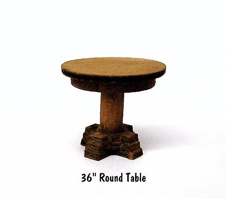 B.T.S. 23021 HO Round Table Laser-Cut Wood Kit (4) 36 91.4cm