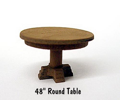 B.T.S. 23022 HO Round Table Laser-Cut Wood Kit (4) 48 122cm