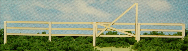 GCLaser 19086 HO 3-Slat Fence with 3 Gates Laser-Cut Matboard & Wood K