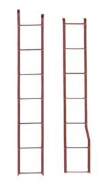 Kadee 2102 HO 40' PS-1 Box Car Ladder Set (Box Car Red) Includes Ends