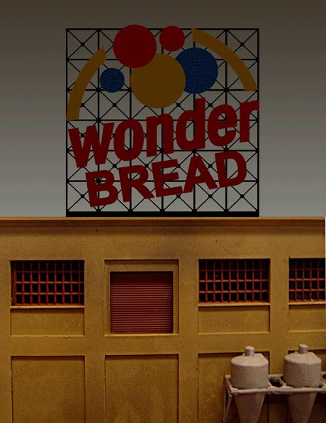 Miller Engineering 4061 HO/O Wonder Bread Animated Neon Billboard This is a Miller Engineering 4061 HO/O Scales Wonder Bread Animated Neon Billboard with Support - Kit. Wonder Bread started when Taggart, an Indianapolis baking company, produced a loaf of bread and wrapped it in a package with colorful red, blue and yellow balloons. Wonder Bread was born. Today, at close to 90 years old, Wonder Bread is still one of America's most popular breads. Features: Kit Includes: One Electroluminescence sign lamp. One Ready to Run Power Supply with 46 pre-programmed chase patterns. Runs on 3 AAA Batteries (not included). Complete Instructions. This sign is suitable for HO/O scales and measures 3.75 wide x 3.75 high.Condition: Factory New (C-9All original; unused; factory rubs and evidence of handling, shipping and factory test run.Standards for all toy train related accessory items apply to the visual appearance of the item and do not consider the operating functionality of the equipment.Condition and Grading Standards are subjective, at best, and are intended to act as a guide. )Operational Status: FunctionalThis item is brand new from the factory.Original Box: Yes (P-9May have store stamps and price tags. Has inner liners.)Manufacturer: Miller EngineeringModel Number: 4061Road Name: Wonder BreadMSRP: $49.95Scale/Era: HO ModernModel Type: AccessoriesAvailability: Ships in 1 Business Day!The Trainz SKU for this item is P11658331. Track: 11658331 - No Location Assigned - 001 - TrainzAuctionGroup00UNK - TDIDUNK