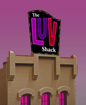 Miller Engineering 4481 HO/O The LUV Shack  Billboard This is a Miller Engineering 4481 HO/O Scales The LUV Shack Billboard . Animated roadside billboard series neon sign. We won't go into great detail about what this sign is for, if you don't know you don't need it. Surely this sign will add a little spice to any layout! Can be mounted as a roof top billboard or at highway level. Dimensions: 2.875 high x 2.81 wide Kit includes: Electroluminescence sign lamp Power supply (runs on 3 AAA batteries - not included) Photo etched stainless steel supports (requires assembly) Complete instructionsCondition: Factory New (C-9All original; unused; factory rubs and evidence of handling, shipping and factory test run.Standards for all toy train related accessory items apply to the visual appearance of the item and do not consider the operating functionality of the equipment.Condition and Grading Standards are subjective, at best, and are intended to act as a guide. )Operational Status: FunctionalThis item is brand new from the factory.Original Box: Yes (P-9May have store stamps and price tags. Has inner liners.)Manufacturer: Miller EngineeringModel Number: 4481MSRP: $34.95Scale/Era: HO ModernModel Type: AccessoriesAvailability: Ships in 1 Business Day!The Trainz SKU for this item is P11588981. Track: 11588981 - No Location Assigned - 001 - TrainzAuctionGroup00UNK - TDIDUNK