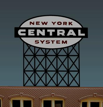 Miller Engineering 4581 HO/O New York Central Railroad  Animated Billb This is a Miller Engineering 4581 HO/O Scales New York Central Railroad Animated Billboard. Limited production sign. Great addition to your layout or a diorama. This is a Miller's 3rd railroad name billboard based on the NYC logo. Dimensions: approx. 4.22 high x 4.14 wide Kit includes: Electroluminescence sign lamp Billboard stand and supports Power supply (requires 3 AAA batteries - not included) Complete instructions Runs on 3 AAA batteries or 4.5v DC wall adapter power supply (sold separately).Condition: Factory New (C-9All original; unused; factory rubs and evidence of handling, shipping and factory test run.Standards for all toy train related accessory items apply to the visual appearance of the item and do not consider the operating functionality of the equipment.Condition and Grading Standards are subjective, at best, and are intended to act as a guide. )Operational Status: FunctionalThis item is brand new from the factory.Original Box: Yes (P-9May have store stamps and price tags. Has inner liners.)Manufacturer: Miller EngineeringModel Number: 4581Road Name: New York CentralMSRP: $49.95Scale/Era: HO ModernModel Type: AccessoriesAvailability: Ships within 3 Business Days!The Trainz SKU for this item is P11588983. Track: 11588983 - 4040-C (Suite 2730-100)  - 001 - TrainzAuctionGroup00UNK - TDIDUNK
