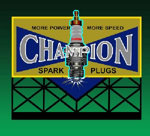 Miller Engineering 5071 HO/N Animated Neon Billboard Champion Sparkplu This is a Miller Engineering 5071 HO/N Scales Animated Neon Billboard Champion Sparkplug - Large 4-13/16 Wide, 4-7/64 Tall. From dancing chase lights to pointing arrows, these animated electroluminiscent billboard kits feature a wide variety of colorful, simulated-neon graphics for a variety of businesses. Kits include battery holder and all necessary electronics for plug-and-play installation. Signs require three AAA batteries (not included). Just install them on your building rooftops or along highways. Large signs are suitable for HO and larger scales, medium signs are usable as large N Scale signs and in HO Scale.Condition: Factory New (C-9All original; unused; factory rubs and evidence of handling, shipping and factory test run.Standards for all toy train related accessory items apply to the visual appearance of the item and do not consider the operating functionality of the equipment.Condition and Grading Standards are subjective, at best, and are intended to act as a guide. )Operational Status: FunctionalThis item is brand new from the factory.Original Box: Yes (P-9May have store stamps and price tags. Has inner liners.)Manufacturer: Miller EngineeringModel Number: 5071Road Name: Champion Spark PlugsMSRP: $49.95Scale/Era: HO ModernModel Type: AccessoriesAvailability: Ships in 1 Business Day!The Trainz SKU for this item is P11594629. Track: 11594629 - No Location Assigned - 001 - TrainzAuctionGroup00UNK - TDIDUNK
