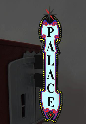 Miller Engineering 5981 HO/O Animated Neon Vertical Theater Sign This is a Miller Engineering 5981 HO/O Scales Animated Neon Vertical Theater Sign with 6 Theater Name Overlays 1-7/32 x 5-5/8 Tall. From dancing chase lights to pointing arrows, these animated electroluminiscent billboard kits feature a wide variety of colorful, simulated-neon graphics for a variety of businesses. Kits include battery holder and all necessary electronics for plug-and-play installation. Signs require three AAA batteries (not included). Just install them on your building rooftops or along highways. Large signs are suitable for HO and larger scales, medium signs are usable as large N Scale signs and in HO Scale.Condition: Factory New (C-9All original; unused; factory rubs and evidence of handling, shipping and factory test run.Standards for all toy train related accessory items apply to the visual appearance of the item and do not consider the operating functionality of the equipment.Condition and Grading Standards are subjective, at best, and are intended to act as a guide. )Operational Status: FunctionalThis item is brand new from the factory.Original Box: Yes (P-9May have store stamps and price tags. Has inner liners.)Manufacturer: Miller EngineeringModel Number: 5981MSRP: $55.95Scale/Era: HO ModernModel Type: AccessoriesAvailability: Ships in 1 Business Day!The Trainz SKU for this item is P11957210. Track: 11957210 - No Location Assigned - 001 - TrainzAuctionGroup00UNK - TDIDUNK