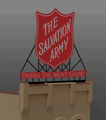 Miller Engineering 6282 N/HO Salvation Army Billboard This is a Miller Engineering 6282 N/HO Scales Salvation Army Billboard. What town doesn't have a Salvation Army store. Great addition to your layout or a diorama. Kit includes: Electroluminescence sign lamp Power supply (requires 3 AAA batteries - not included) Complete instructions Dimensions: 1.95 high x 2.5 wide Runs on 3 AAA batteries, or 4.5v DC AC wall adapter power supply, or AD/DC power converter (sold separately).Condition: Factory New (C-9All original; unused; factory rubs and evidence of handling, shipping and factory test run.Standards for all toy train related accessory items apply to the visual appearance of the item and do not consider the operating functionality of the equipment.Condition and Grading Standards are subjective, at best, and are intended to act as a guide. )Operational Status: FunctionalThis item is brand new from the factory.Original Box: Yes (P-9May have store stamps and price tags. Has inner liners.)Manufacturer: Miller EngineeringModel Number: 6282Road Name: Salvation ArmyMSRP: $29.95Scale/Era: HO ModernModel Type: AccessoriesAvailability: Ships in 3 to 5 Business Days.The Trainz SKU for this item is P11645858. Track: 11645858 - FS - 001 - TrainzAuctionGroup00UNK - TDIDUNK