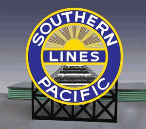 Miller Engineering 7072 HO/N Southern Pacific Animated Billboard Sign This is a Miller Engineering 7072 HO/N Scales Southern Pacific Animated Billboard Sign. Approx. 2.2 inches high x 1.8 inches wide. Kit includes: •Electroluminescence sign lamp •Billboard stand (supports sold separately) •Power supply (requires 3 AAA batteries - not included) •Complete instructions. Runs on 3 AAA batteries or 4.5v DC wall adapter power supply (sold separately). This sign has a second set of contacts on the back side so the lower part can be trimmed off and the remaining circle logo can be flush mounted on a building.Condition: Factory New (C-9All original; unused; factory rubs and evidence of handling, shipping and factory test run.Standards for all toy train related accessory items apply to the visual appearance of the item and do not consider the operating functionality of the equipment.Condition and Grading Standards are subjective, at best, and are intended to act as a guide. )Operational Status: FunctionalThis item is brand new from the factory.Original Box: Yes (P-9May have store stamps and price tags. Has inner liners.)Manufacturer: Miller EngineeringModel Number: 7072Road Name: Southern PacificMSRP: $29.95Scale/Era: HO ModernModel Type: AccessoriesAvailability: Ships in 2 Business Days!The Trainz SKU for this item is P11620915. Track: 11620915 - No Location Assigned - 001 - TrainzAuctionGroup00UNK - TDIDUNK