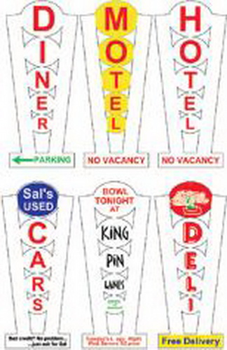 Miller Engineering 7282 N/HO Multi Graphic Vertical Animated Sign This is a Miller Engineering 7282 HO/N Scales Animated Multi-Graphic Lighting Kits with Overlays Vertical, Medium. Great addition to your layout or a diorama. Dimensions: approx. 3.0 high. Kit includes: Electroluminescence sign lamp 6 peel and stick graphic overlays Power supply (requires 3 AAA batteries - not included) Complete instructions Peel and stick overlays can be removed and changed to a different name if desired. Runs on 3 AAA batteries or 4.5v DC wall adapter power supply (sold separately).Condition: Factory New (C-9All original; unused; factory rubs and evidence of handling, shipping and factory test run.Standards for all toy train related accessory items apply to the visual appearance of the item and do not consider the operating functionality of the equipment.Condition and Grading Standards are subjective, at best, and are intended to act as a guide. )Operational Status: FunctionalThis item is brand new from the factory.Original Box: Yes (P-9May have store stamps and price tags. Has inner liners.)Manufacturer: Miller EngineeringModel Number: 7282MSRP: $28.95Scale/Era: HO ModernModel Type: AccessoriesAvailability: Ships in 3 to 5 Business Days.The Trainz SKU for this item is P11636011. Track: 11636011 - FS - 001 - TrainzAuctionGroup00UNK - TDIDUNK