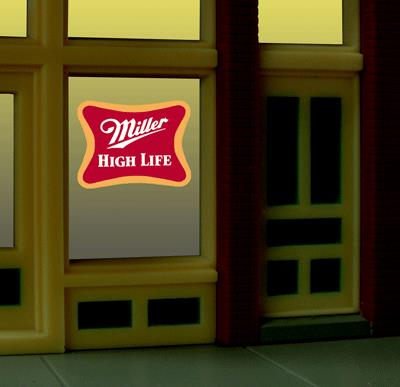 Miller Engineering 7777 HO/O Miller Beer Flashing Neon Window Sign This is a Miller Engineering 7777 HO/O Scales Miller Beer Flashing Neon Window Sign 2 x 2-3/16 5.1 x 5.6cm. The Miller Brewing Company is an American beer-brewing company owned by the United Kingdom-based SABMiller. Its regional headquarters is located in Milwaukee, Wisconsin. The company has brewing facilities in Albany, Georgia; Chippewa Falls, Wisconsin; Eden, North Carolina; Fort Worth, Texas; Irwindale, California; Milwaukee, Wisconsin; and Trenton, Ohio.It Features: •One EL sign lamp •One ready to run power supply with 46 pre-programmed chase patterns •Runs on 3 AAA batteries (NOT included) •Complete instructions.Condition: Factory New (C-9All original; unused; factory rubs and evidence of handling, shipping and factory test run.Standards for all toy train related accessory items apply to the visual appearance of the item and do not consider the operating functionality of the equipment.Condition and Grading Standards are subjective, at best, and are intended to act as a guide. )Operational Status: FunctionalThis item is brand new from the factory.Original Box: Yes (P-9May have store stamps and price tags. Has inner liners.)Manufacturer: Miller EngineeringModel Number: 7777Road Name: Miller BeerMSRP: $17.95Scale/Era: HO ModernModel Type: AccessoriesAvailability: Ships in 3 to 5 Business Days.The Trainz SKU for this item is P11658336. Track: 11658336 - FS - 001 - TrainzAuctionGroup00UNK - TDIDUNK