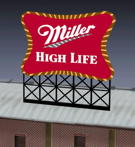 Miller Engineering 8061 HO/O Large Miller High Life, Animated Neon Sig This is a Miller Engineering 8061 HO/O Scales Large Miller High Life, Animated Neon Sign Kit. The Miller Brewing Company is an American beer-brewing company owned by the United Kingdom-based SABMiller. Its regional headquarters is located in Milwaukee, Wisconsin. The company has brewing facilities in Albany, Georgia; Chippewa Falls, Wisconsin; Eden, North Carolina; Fort Worth, Texas; Irwindale, California; Milwaukee, Wisconsin; and Trenton, Ohio.It Features: Large Miller High Life sign includes one EL sign lamp, multi channel sequencing sign, one ready to run power supply, runs on 3 AAA batteries (not included), and complete instructions. This sign is suitable for HO/O scales and measures 3.7 wide x 4.1 high.Condition: Factory New (C-9All original; unused; factory rubs and evidence of handling, shipping and factory test run.Standards for all toy train related accessory items apply to the visual appearance of the item and do not consider the operating functionality of the equipment.Condition and Grading Standards are subjective, at best, and are intended to act as a guide. )Operational Status: FunctionalThis item is brand new from the factory.Original Box: Yes (P-9May have store stamps and price tags. Has inner liners.)Manufacturer: Miller EngineeringModel Number: 8061Road Name: Miller BeerMSRP: $49.95Scale/Era: HO ModernModel Type: AccessoriesAvailability: Ships in 1 Business Day!The Trainz SKU for this item is P11658337. Track: 11658337 - No Location Assigned - 001 - TrainzAuctionGroup00UNK - TDIDUNK