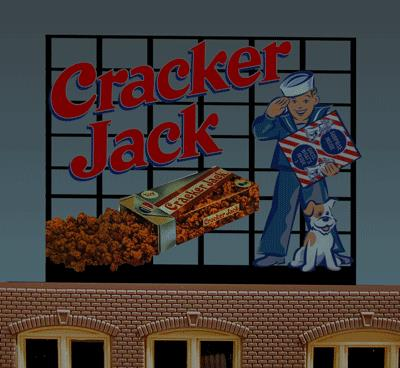 Miller Engineering 880101 HO/O Cracker Jack Animated Neon Billboard This is a Miller Engineering 880101 HO/O Scales Cracker Jack Animated Neon Billboard - Light Works USA(TM) Large. Frederick William Rueckheim known informally as Fritz and his brother Louis mass-produced an early version of Cracker Jack and sold it at the first Chicago World's Fair in 1893. Prizes were included in every box of Cracker Jack beginning in 1912. The Cracker Jack Company was purchased by Bordens in 1964, and then to Frito-Lay in 1997. Great addition to your layout or a diorama. Kit includes: Electroluminescence sign lamp Power supply (requires 3 AAA batteries - not included) Sign supports Complete instructions Dimensions: 3.6 high x 4.6 wide Runs on 3 AAA batteries, or 4.5vDC AC wall adapter power supply, or AD/DC power converter (sold separately).Condition: Factory New (C-9All original; unused; factory rubs and evidence of handling, shipping and factory test run.Standards for all toy train related accessory items apply to the visual appearance of the item and do not consider the operating functionality of the equipment.Condition and Grading Standards are subjective, at best, and are intended to act as a guide. )Operational Status: FunctionalThis item is brand new from the factory.Original Box: Yes (P-9May have store stamps and price tags. Has inner liners.)Manufacturer: Miller EngineeringModel Number: 880101Road Name: Cracker jackMSRP: $49.95Scale/Era: HO ModernModel Type: AccessoriesAvailability: Ships in 3 to 5 Business Days.The Trainz SKU for this item is P11725026. Track: 11725026 - FS - 001 - TrainzAuctionGroup00UNK - TDIDUNK