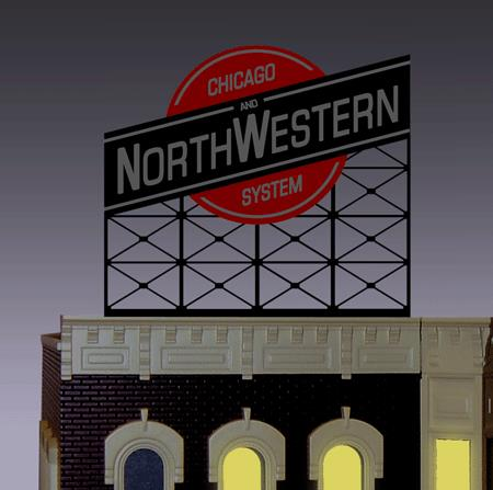 Miller Engineering 880201 HO/O Chicago & North Western Animated Neon B This is a Miller Engineering 880201 HO/O Scales Chicago & North Western Animated Neon Billboard - Light Works USA(TM) Large. The C&NW railroad operated more than 5,000 miles of track as of the turn of the 20th century, and over 12,000 miles of track in seven states before scaling back in the late 1970s. The C&NW became one of the longest railroads in the USA as a result of mergers with other railroads. The company was purchased by the Union Pacific Railroad in April 1995 and ceased to exist. Great addition to your layout or a diorama. Kit includes: Electroluminescence sign Power supply (requires 3 AAA batteries - not included) 6 popular theatre name peel & stick overlays Complete instructions Dimensions: approx. 3.6 high x 3.8 wide Runs on 3 AAA batteries or 4.5v DC wall adapter power supply (sold separately).Condition: Factory New (C-9All original; unused; factory rubs and evidence of handling, shipping and factory test run.Standards for all toy train related accessory items apply to the visual appearance of the item and do not consider the operating functionality of the equipment.Condition and Grading Standards are subjective, at best, and are intended to act as a guide. )Operational Status: FunctionalThis item is brand new from the factory.Original Box: Yes (P-9May have store stamps and price tags. Has inner liners.)Manufacturer: Miller EngineeringModel Number: 880201Road Name: C&NWMSRP: $49.95Scale/Era: HO ModernModel Type: AccessoriesAvailability: Ships in 1 Business Day!The Trainz SKU for this item is P11676775. Track: 11676775 - No Location Assigned - 001 - TrainzAuctionGroup00UNK - TDIDUNK