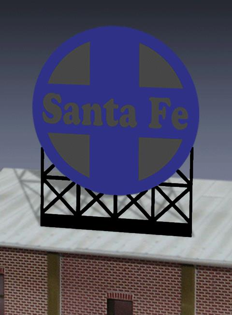 Miller Engineering 880551 O/HO Santa Fe Animated Billboard This is a Miller Engineering 880551 O/HO Scales Santa Fe Animated Neon Billboard - Light Works USA(TM) Large. This Santa Fe sign has a second set of contacts on the backside so the lower part can be trimmed off and the remaining circle logo can be flush mounted on a building making it a very versatile sign. Great addition to your layout or a diorama. Kit includes: Electroluminescence sign lamp Sign supports Power supply (requires 3 AAA batteries - not included) Complete instructions Dimensions: 4.4 high x 3.65 wide Runs on 3 AAA batteries, or 4.5vDC AC wall adapter power supply, or AD/DC power converter (sold separately).Condition: Factory New (C-9All original; unused; factory rubs and evidence of handling, shipping and factory test run.Standards for all toy train related accessory items apply to the visual appearance of the item and do not consider the operating functionality of the equipment.Condition and Grading Standards are subjective, at best, and are intended to act as a guide. )Operational Status: FunctionalThis item is brand new from the factory.Original Box: Yes (P-9May have store stamps and price tags. Has inner liners.)Manufacturer: Miller EngineeringModel Number: 880551Road Name: Santa FeMSRP: $49.95Scale/Era: HO ModernModel Type: AccessoriesAvailability: Ships in 1 Business Day!The Trainz SKU for this item is P11725028. Track: 11725028 - No Location Assigned - 001 - TrainzAuctionGroup00UNK - TDIDUNK
