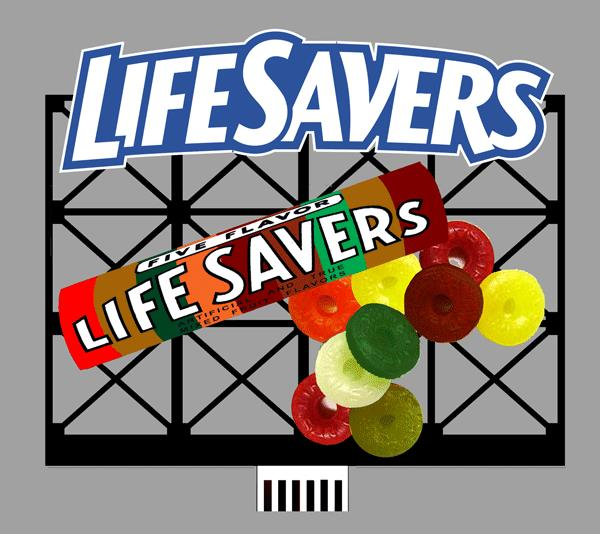 Miller Engineering 880851 HO/O Life Savers Animated Neon Billboard This is a Miller Engineering 880851 HO/O Scales Life Savers Animated Neon Billboard. Limited Edition HO/O scale 3D Lifesavers animated billboard sign Miller's first 3D billboard! Unique in its design, the roll of Lifesavers is actually a half tube that is mounted on the face of the billboard and is animated. Gives a stunning effect! Great addition to your layout or a diorama. Kit includes: 3D Electroluminescence sign lamp Sign supports Power supply (requires 3 AAA batteries - not included) Complete instructions Dimensions: 3.8 high x 4.5 wide Runs on 3 AAA batteries, or 4.5vDC AC wall adapter power supply, or AD/DC power converter (sold separately).Condition: Factory New (C-9All original; unused; factory rubs and evidence of handling, shipping and factory test run.Standards for all toy train related accessory items apply to the visual appearance of the item and do not consider the operating functionality of the equipment.Condition and Grading Standards are subjective, at best, and are intended to act as a guide. )Operational Status: FunctionalThis item is brand new from the factory.Original Box: Yes (P-9May have store stamps and price tags. Has inner liners.)Manufacturer: Miller EngineeringModel Number: 880851Road Name: Life SaversMSRP: $52.95Scale/Era: HO ModernModel Type: AccessoriesAvailability: Ships in 1 Business Day!The Trainz SKU for this item is P11824712. Track: 11824712 - No Location Assigned - 001 - TrainzAuctionGroup00UNK - TDIDUNK