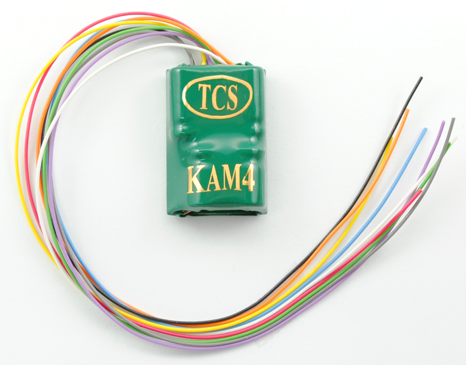 Train Control Systems 1486 KAM4P-SH 1  HARNESS This is Train Control Systems 1486 KAM4P-SH 1 HARNESS. KAM4P-SH 4-function wired DCC decoder with built-in Keep-Alive. This full featured 4 function hardwire decoder combines the relative small size of a M4 decoder with Keep Alive™ on board. Keep Alive™ will keep locomotive operating for 3-6 seconds without power (dirty track, bad connections, dead switch frogs etc.). This decoder can be bought with NMRA 8 pin plug and play convience in three lengths of harnessing (KAM4P-SH, KAM4P-MH, KAM4P-LH). Decoder includes our famous auto adjusting BEMF for outstanding slow speed performance. Dimensions: 0.945 x 0.66 x 0.33 (33.4mm x 24mm x 8.38 mm)Condition: Factory New (C-9All original; unused; factory rubs and evidence of handling, shipping and factory test run.Standards for all toy train related accessory items apply to the visual appearance of the item and do not consider the operating functionality of the equipment.Condition and Grading Standards are subjective, at best, and are intended to act as a guide. )Operational Status: FunctionalThis item is brand new from the factory.Original Box: Yes (P-9May have store stamps and price tags. Has inner liners.)Manufacturer: Train Control SystemsModel Number: 1486MSRP: $66.95Scale/Era: HO ModernModel Type: AccessoriesAvailability: Ships in 2 Business Days!The Trainz SKU for this item is P11688244. Track: 11688244 - No Location Assigned - 001 - TrainzAuctionGroup00UNK - TDIDUNK