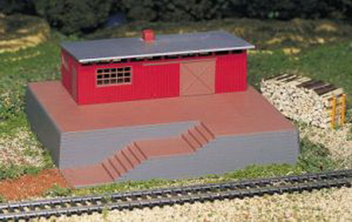 Bachmann 46209 HO Storage Building w/Steam Whistle Operating Accessori This is Bachmann 46209 HO Storage Building w/Steam Whistle Operating Accessories. You can add sound, lights, water features, and accent pieces to your railroad with our extensive selection of operating accessories. Complements any HO scale layout. Realistic sound of a steam whistle comes from this warehouse. Constructed of plastic and pre-painted. Electronically operated. Works from power pack. Push button control. 2-piece Wayside Warehouse with large woodgrain dock and steps. Installations instructions provided.Condition: Factory New (C-9All original; unused; factory rubs and evidence of handling, shipping and factory test run.Standards for all toy train related accessory items apply to the visual appearance of the item and do not consider the operating functionality of the equipment.Condition and Grading Standards are subjective, at best, and are intended to act as a guide. )Operational Status: FunctionalThis item is brand new from the factory.Original Box: Yes (P-9May have store stamps and price tags. Has inner liners.)Manufacturer: BachmannModel Number: 46209MSRP: $47.25Scale/Era: HO ModernModel Type: BuildingsAvailability: Ships in 1 Business Day!The Trainz SKU for this item is P11461953. Track: 11461953 - S01 (Shelf)  - 001 - TrainzAuctionGroup00UNK - TDIDUNK