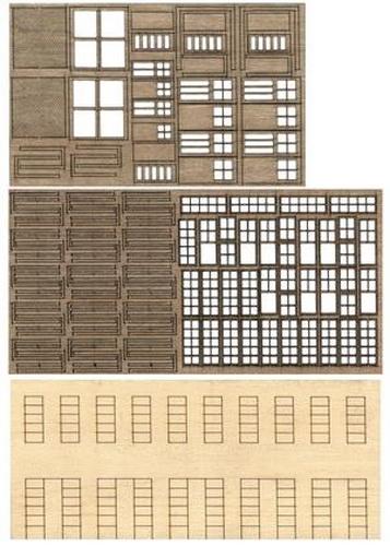 Bar Mills 32 HO Modular Structure - Kit (Laser-cut)