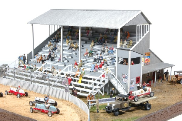 JL Innovative Design 551 HO Riverside Speedway Grandstand Wooden Kit This HO scale kit is a limited run of 400 kits. Features laser cut basswood and plywood components with sign sheet #548 included as well as cast metal details to complete the scene. Can be used for rodeo, horse or dog racing as well as any other sporting venues. Note: Diorama size of photo is 14 x 14, not a lot of space is needed for this great scene. Also, race cars #901 and seated figure sets sold separately from JLI; inquire directly for specials on seated figures.Condition: Factory New (C-9All original; unused; factory rubs and evidence of handling, shipping and factory test run.Standards for all toy train related accessory items apply to the visual appearance of the item and do not consider the operating functionality of the equipment.Condition and Grading Standards are subjective, at best, and are intended to act as a guide. )Operational Status: FunctionalThis item is brand new from the factory.Original Box: Yes (P-9May have store stamps and price tags. Has inner liners.)Manufacturer: JL Innovative DesignModel Number: 551MSRP: $99.95Scale/Era: HO ModernModel Type: BuildingsAvailability: Ships in 1 Business Day!The Trainz SKU for this item is P12054248. Track: 12054248 - DS (Shelf)  - 001 - TrainzAuctionGroup00UNK - TDIDUNK