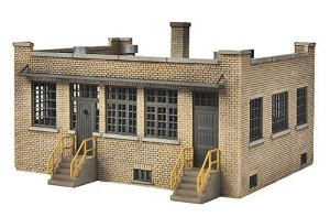 Walthers 933-4020 HO Single Story Brick Industry Office Kit This is a Walthers 933-4020 HO Scale Industry Office Kit - 4-3/4 x 6-1/4 x 2-3/4 12.1 x 15.9 x 5.1cm Download the Instruction Sheet (821 K bytes, PDF format) Keep any business large or small working smoothly from this handsome office building. Ideal for use with a larger firms of all types, it also makes a great free-standing small business. Features include: * Single Story Brick Construction * Wood Doors and Metal Sash Windows * Lean-to Annex * Front Awnings, Gutters, Downspouts & Rooftop Ventilators * Variety of Decals for Various Businesses * Use as Railroad or Trucking Co. Office, Stand-Alone Business or Entry Building for Manufacturing ComplexCondition: Factory New (C-9All original; unused; factory rubs and evidence of handling, shipping and factory test run.Standards for all toy train related accessory items apply to the visual appearance of the item and do not consider the operating functionality of the equipment.Condition and Grading Standards are subjective, at best, and are intended to act as a guide. )Operational Status: FunctionalThis item is brand new from the factory.Original Box: Yes (P-9May have store stamps and price tags. Has inner liners.)Manufacturer: WalthersModel Number: 933-4020MSRP: $19.98Scale/Era: HO ModernModel Type: BuildingsAvailability: Ships in 3 to 5 Business Days.The Trainz SKU for this item is P11963645. Track: 11963645 - FS - 001 - TrainzAuctionGroup00UNK - TDIDUNK