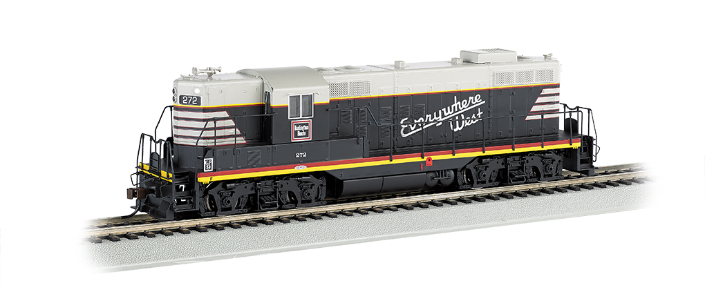 Bachmann 62811 Ho Burlington Gp9 Diesel Locomotive 272 Ebay
