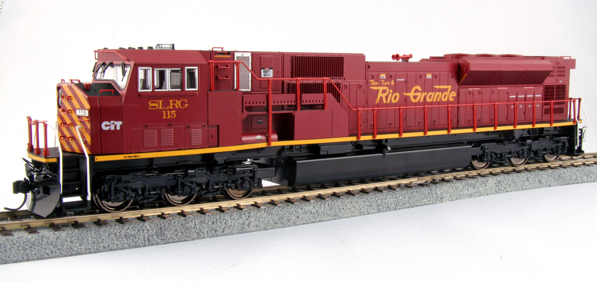 Kato 37-6390 HO San Luis & Rio Grande EMD SD90/43MAC - Standard DC #11 This is a Kato USA Inc 376390 HO Scale EMD SD90/43MAC - Standard DC San Luis & Rio Grande #115 (maroon, yellow). Models are equipped with bright white LED headlights, semi-automatic knuckle couplers, factory-installed DCC socket, wired electrical pickup with a five-pole motor with dual bras flywheels, lighted front-end ditch lights, printed numberboards, separate MY hoses, windshield wipers and 45 scale wheels.Condition: Factory New (C-9All original; unused; factory rubs and evidence of handling, shipping and factory test run.Standards for all toy train related accessory items apply to the visual appearance of the item and do not consider the operating functionality of the equipment.Condition and Grading Standards are subjective, at best, and are intended to act as a guide. )Operational Status: FunctionalThis item is brand new from the factory.Original Box: Yes (P-9May have store stamps and price tags. Has inner liners.)Manufacturer: KatoModel Number: 37-6390MSRP: $195.00Scale/Era: HO ModernModel Type: Diesel LocoAvailability: Ships in 1 Business Day!The Trainz SKU for this item is P11962603. Track: 11962603 - No Location Assigned - 001 - TrainzAuctionGroup00UNK - TDIDUNK
