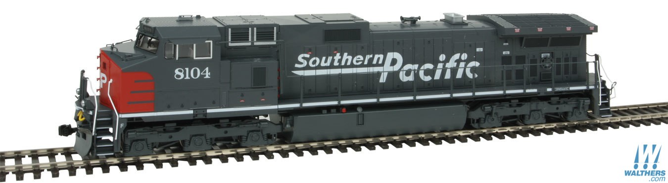 Kato 376631 HO Southern Pacific GE C44-9W Diesel Locomotive #8132 (gra This is Kato 376631 HO Southern Pacific GE C44-9W Diesel Locomotive #8132 (gray, red). Features includes great for pulling our Gunderson MAXI-IV double stack well cars. Precisely engineered weight distribution for more pulling power on steep grades and long trains. Lighted ditch lights in the high mount position for SP and UP (ex-SP) units. Prototypical Late Hi-Adhesion trucks. DCC and Sound friendly construction with a speaker housing in the fuel tank and standard 8 pin DCC plug.Condition: Factory New (C-9All original; unused; factory rubs and evidence of handling, shipping and factory test run.Standards for all toy train related accessory items apply to the visual appearance of the item and do not consider the operating functionality of the equipment.Condition and Grading Standards are subjective, at best, and are intended to act as a guide. )Operational Status: FunctionalThis item is brand new from the factory.Original Box: Yes (P-9May have store stamps and price tags. Has inner liners.)Manufacturer: KatoModel Number: 376631Road Name: Southern PacificMSRP: $198.00Scale/Era: HO ModernModel Type: Diesel LocoAvailability: Ships in 2 Business Days!The Trainz SKU for this item is P12142516. Track: 12142516 - No Location Assigned - 001 - TrainzAuctionGroup00UNK - TDIDUNK