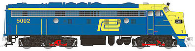 Rapido Trains 14539 HO Penn Central EMD FL9 with LokSound & DCC #5002 This is a Rapido Trains 14539 HO Scale Penn Central EMD FL9 with LokSound & DCC #5002 (blue, yellow). Features:Correct details for both delivery groups,Road-number and era-specific details applied at the factory,Correct fuel and water tanks, cooling coils, and other details!,Full underframe detail including piping and conduit,Etched-metal No-Warp grills,See-through fans,Correct fuel tank skirt configurations,Operational headlight, back-up light, class lights, and number boards,Full cab interior,Available as a sound-equipped model with an ESU LokSound sound decoder or as a DC/DCC ready,Authentic sounds including Hancock air whistle (where appropriate),Rapido's proven 5-pole, skew-wound motor and silky-smooth drive system,Optional detail parts including rooftop pantograph and end ladders (where appropiate),Macdonald-Cartier metal knuckle couplers mounted at the correct height,Several road numbers available per paint scheme.Condition: Factory New (C-9All original; unused; factory rubs and evidence of handling, shipping and factory test run.Standards for all toy train related accessory items apply to the visual appearance of the item and do not consider the operating functionality of the equipment.Condition and Grading Standards are subjective, at best, and are intended to act as a guide. )Operational Status: FunctionalThis item is brand new from the factory.Original Box: Yes (P-9May have store stamps and price tags. Has inner liners.)Manufacturer: Rapido TrainsModel Number: 14539Road Name: Penn CentralMSRP: $349.95Scale/Era: HO ModernModel Type: Diesel LocoAvailability: Ships in 1 Business Day!The Trainz SKU for this item is P12146187. Track: 12146187 - No Location Assigned - 001 - TrainzAuctionGroup00UNK - TDIDUNK