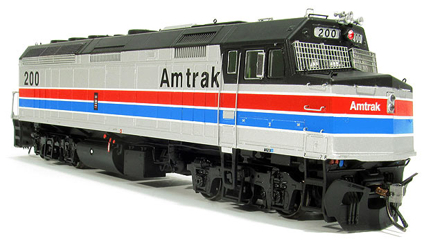 Rapido Trains 80032 HO Amtrak EMD F40PH - Standard DC #208 This is a Rapido Trains 80032 HO Scale Amtrak EMD F40PH - Standard DC #208 (Phase II, Platinum Mist, Wide red & blue bands, black). The Rapido Amtrak F40PH features:Extensive, separate underbody piping and conduit highly visible from trackside,Head lights, backup light, and marker lights,Working strobe lights that flash independently in DCC models - a first!,Separate, factory-applied wire grab irons,See-through, etched-metal radiator grills with visible interior supports,Etched-metal windshield safety grills included in the box,Era-specific details,Full cab interior painted in correct colors,Wind deflectors, see-through dynamic brake grills and radiator fans,Scaled from original blueprints to ensure accurate dimensions,Accurate fuel tank profile and exhaust silencer,Sound-equipped model with a custom Rapido ESU LokSound sound decoder or DC silent model,Will operate smoothly on DC and DCC layouts,Rapido's proven 5-pole, skew-wound motor and silky-smooth drive system,Macdonald-Cartier metal knuckle couplers mounted at the correct height,Available in Amtrak Phase II and Amtrak Phase III (early) paint schemes,Eight numbers plus unnumbered available per paint scheme,Decals included for optional lettering and warning labels.Condition: Factory New (C-9All original; unused; factory rubs and evidence of handling, shipping and factory test run.Standards for all toy train related accessory items apply to the visual appearance of the item and do not consider the operating functionality of the equipment.Condition and Grading Standards are subjective, at best, and are intended to act as a guide. )Operational Status: FunctionalThis item is brand new from the factory.Original Box: Yes (P-9May have store stamps and price tags. Has inner liners.)Manufacturer: Rapido TrainsModel Number: 80032Road Name: AmtrakMSRP: $219.95Scale/Era: HO ModernModel Type: Diesel LocoAvailability: S