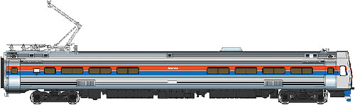 Walthers 920-14802 HO Amtrak Budd Metroliner Electric Multiple Unit This is a WalthersProto 920-14802 HO Scale Budd Metroliner Electric Multiple Unit Snack Bar Coach - Tsunami Sound & DCC Amtrak(R) (Phase II red, white, blue w/Large Name). * New Decal Unit Numbers * Based on Equipment in Service 1968-1982 * 3 Prototype Car Styles * One Helical Geared Power Truck & Skew-Wound High Torque Motor in Each Unit * Working Headlight, Gyralight, Reversing A-End Red Marker Lights, Number Boards & Interior Lighting * Detailed, Spring-Loaded GE or Westinghouse Pantographs per Prototype * Real Metal Finish Simulates Stainless Steel * Correct A & B End Details * Factory-Installed Steel Grab * Prototypically Accurate Window Tinting * Available with Factory-Installed Soundtraxx(R) Tsunami(R) Sound for Operation on DCC or DC Layouts * Proto MAX(TM) Metal Knuckle Couplers Flashing by at 100+mph, Metroliners symbolized American high-speed rail service for years, serving business travelers on Penn Central and later Amtrak as the fastest scheduled trains in the western hemisphere! Now these history-making trains are back in authentic HO Scale as only Walthers can, with the all-new WalthersProto Metroliner. Just as the prototypes broke new ground in style and technology, so do our Metroliners! Completely new from roof to rails, we've captured the unique shape of the Coach, Snack Bar Coach and Parlor Car in all-new tooling. Each comes fully assembled with Walthers real metal stainless steel finish complemented by ultra-sharp Amfleet Phase I paint and lettering including factory-printed car numbers. Fine details, from a full underbody to installed grab irons, from prototypically tinted windows to sprung General Electric or Westinghouse pantographs as appropriate, are all included. Powered by the proven technology of WalthersProto locos, each car has its own high torque motor, driving a powered truck with helical gears, and comes in dual mode Tsunami Sound & DCC (sound operates on DC) o