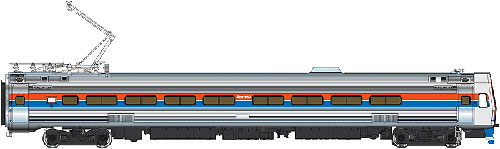 Walthers 920-14822 HO Amtrak Budd Metroliner Electric Multiple Unit Pa This is a WalthersProto 920-14822 HO Scale Budd Metroliner Electric Multiple Unit (EMU) Parlor Car - Tsunami Sound & DCC Amtrak(R) (Phase II red, white, blue w/Large Name).* New Decal Unit Numbers * Based on Equipment in Service 1968-1982 * 3 Prototype Car Styles * One Helical Geared Power Truck & Skew-Wound High Torque Motor in Each Unit * Working Headlight, Gyralight, Reversing A-End Red Marker Lights, Number Boards & Interior Lighting * Detailed, Spring-Loaded GE or Westinghouse Pantographs per Prototype * Real Metal Finish Simulates Stainless Steel * Correct A & B End Details * Factory-Installed Steel Grab * Prototypically Accurate Window Tinting * Available with Factory-Installed Soundtraxx(R) Tsunami(R) Sound for Operation on DCC or DC Layouts * Proto MAX(TM) Metal Knuckle Couplers Flashing by at 100+mph, Metroliners symbolized American high-speed rail service for years, serving business travelers on Penn Central and later Amtrak as the fastest scheduled trains in the western hemisphere! Now these history-making trains are back in authentic HO Scale as only Walthers can, with the all-new WalthersProto Metroliner. Just as the prototypes broke new ground in style and technology, so do our Metroliners! Completely new from roof to rails, we've captured the unique shape of the Coach, Snack Bar Coach and Parlor Car in all-new tooling. Each comes fully assembled with Walthers real metal stainless steel finish complemented by ultra-sharp Amfleet Phase I paint and lettering including factory-printed car numbers. Fine details, from a full underbody to installed grab irons, from prototypically tinted windows to sprung General Electric or Westinghouse pantographs as appropriate, are all included. Powered by the proven technology of WalthersProto locos, each car has its own high torque motor, driving a powered truck with helical gears, and comes in dual mode Tsunami Sound & DCC (sound operates on DC) o