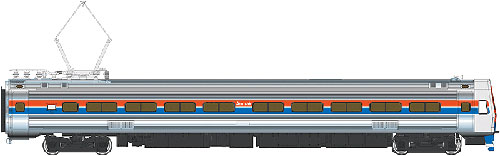 Walthers 920-14842 HO Amtrak Budd Metroliner Electric Multiple Unit Co This is a Walthers 920-14842 HO Scale Budd Metroliner Electric Multiple Unit (EMU) Coach - Tsunami(R) Sound & DCC Amtrak(R) (Phase II red, white, blue w/Large Name). * New Decal Unit Numbers * Based on Equipment in Service 1968-1982 * 3 Prototype Car Styles * One Helical Geared Power Truck & Skew-Wound High Torque Motor in Each Unit * Working Headlight, Gyralight, Reversing A-End Red Marker Lights, Number Boards & Interior Lighting * Detailed, Spring-Loaded GE or Westinghouse Pantographs per Prototype * Real Metal Finish Simulates Stainless Steel * Correct A & B End Details * Factory-Installed Steel Grab * Prototypically Accurate Window Tinting * Available with Factory-Installed Soundtraxx(R) Tsunami(R) Sound for Operation on DCC or DC Layouts * Proto MAX(TM) Metal Knuckle Couplers Flashing by at 100+mph, Metroliners symbolized American high-speed rail service for years, serving business travelers on Penn Central and later Amtrak as the fastest scheduled trains in the western hemisphere! Now these history-making trains are back in authentic HO Scale as only Walthers can, with the all-new WalthersProto Metroliner. Just as the prototypes broke new ground in style and technology, so do our Metroliners! Completely new from roof to rails, we've captured the unique shape of the Coach, Snack Bar Coach and Parlor Car in all-new tooling. Each comes fully assembled with Walthers real metal stainless steel finish complemented by ultra-sharp Amfleet Phase I paint and lettering including factory-printed car numbers. Fine details, from a full underbody to installed grab irons, from prototypically tinted windows to sprung General Electric or Westinghouse pantographs as appropriate, are all included. Powered by the proven technology of WalthersProto locos, each car has its own high torque motor, driving a powered truck with helical gears, and comes in dual mode Tsunami Sound & DCC (sound operates on DC) or Stan